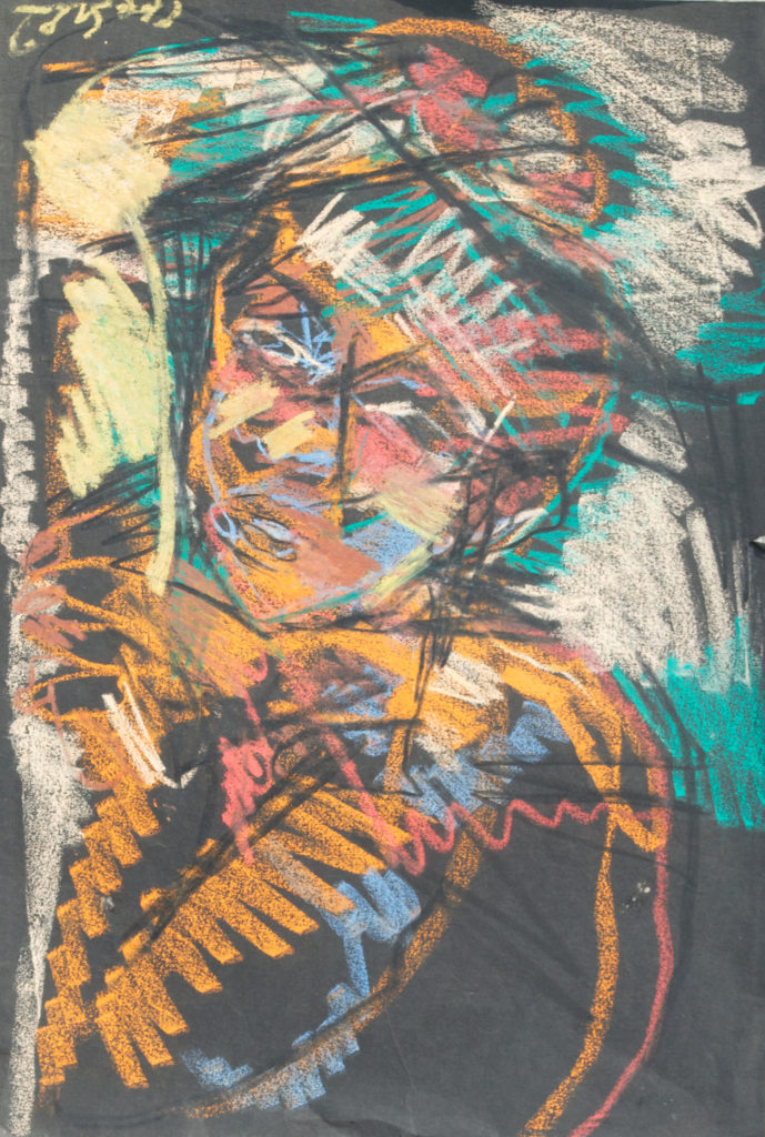 <em><strong>Untitled 2</strong></em>. Pastel on paper, 14.5 x 21.5 inches