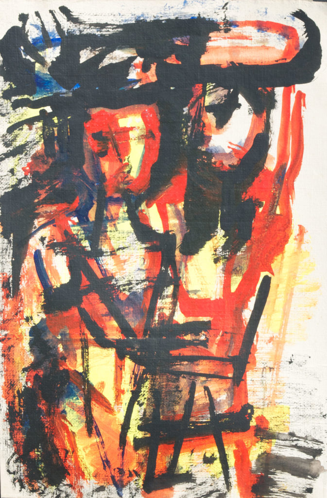 <em><strong>Untitled 3</strong></em>. Watercolour and pastel on paper, 13.5 x 20.5 inches