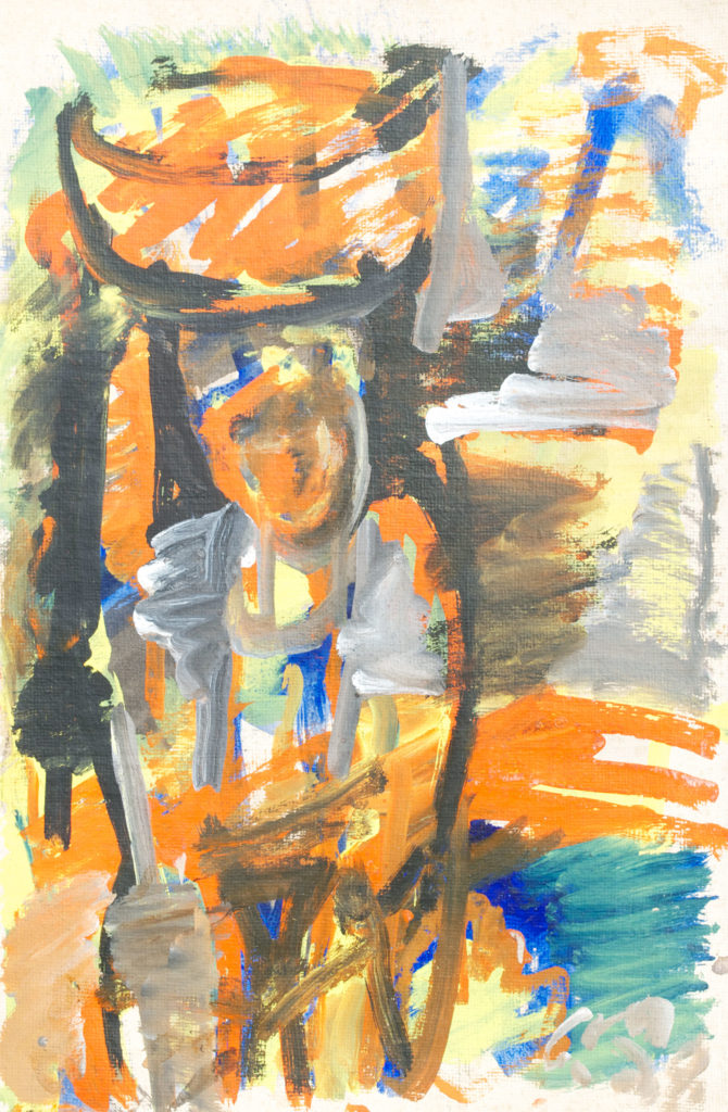 <em><strong>Untitled 11</strong></em>. Watercolour and pastel on paper, 13.5 x 20.5 inches