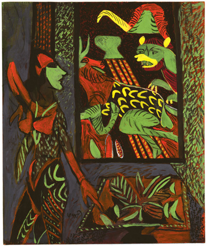 "<em><strong>Untitled</strong></em>. Gouache on handmade paper, 15.5"" x 18"", 2008"