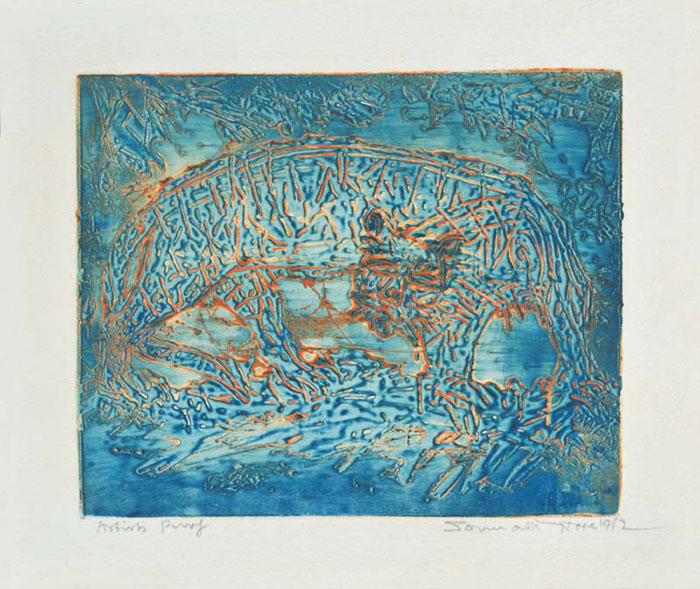 <em><strong>Untitled</strong></em>.Colour Intaglio, 19.5 x 23.8 cm, 1962