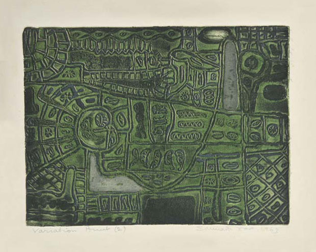 <em><strong>Untitled</strong></em>. Colour Intaglio, 24.9 x 32.9 cm, 1963