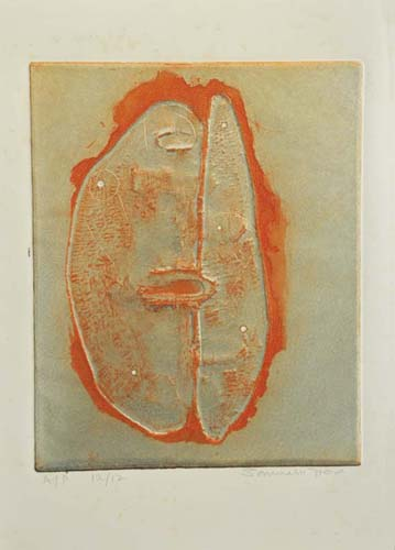 <em><strong>Untitled</strong></em>.Colour Etching, 20.3 x 25 cm, 1967