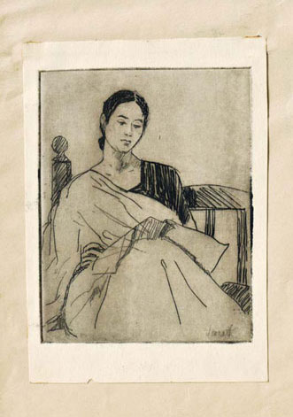 <em><strong>Untitled</strong></em>. Etching, 9.7 x 12.5 cm, mid-1950s