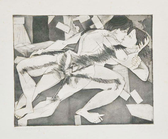 <em><strong>Untitled</strong></em>. Etching and aquatint, 25.2 x 20 cm, 1973