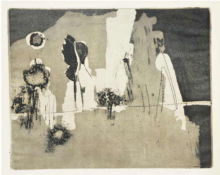 <em><strong>Untitled</strong></em>. Etching and aquatint, 25.4 x 20.2 cm, early 1960s