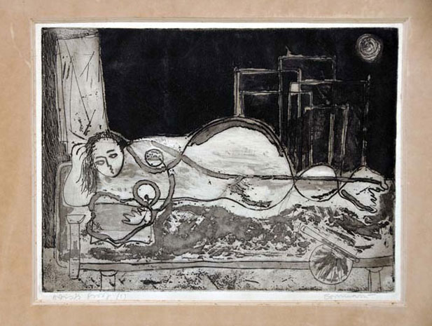 <em><strong>Untitled</strong></em>. Etching and aquatint, 22.6 x 16.9 cm, 1973