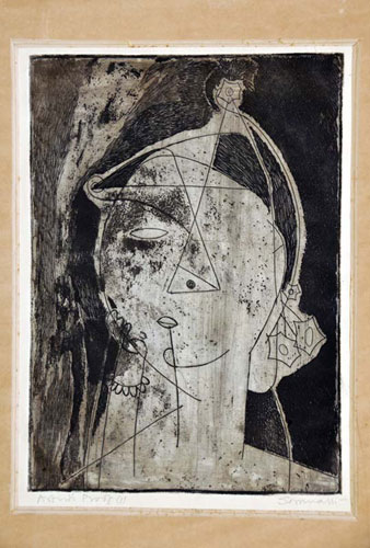 <em><strong>Untitled</strong></em>. Etching and aquatint, 15.3 x 21.3 cm, mid-1960s