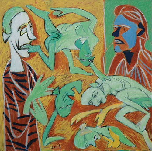 "<em><strong>Anatomy Lesson 1</strong></em>. Acrylic on canvas, 30"" x 30"", 2008"