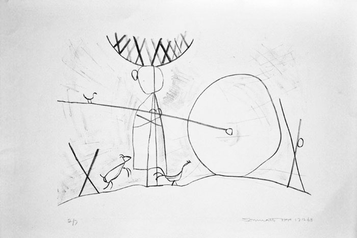 <em><strong>Untitled</strong></em>. Lithograph, 53.8 x 33 cm, 1960s
