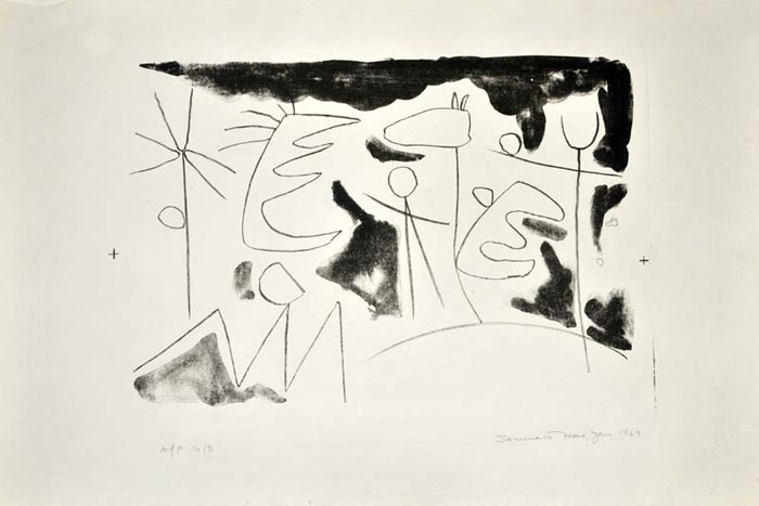 <em><strong>Untitled</strong></em>. Lithograph, 15.7 x 11.6 inches, 1969
