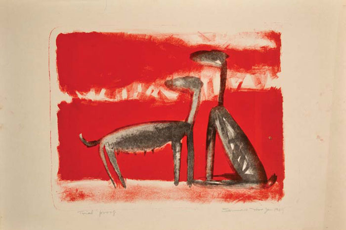 <em><strong>Untitled</strong></em>. Lithograph, 40 x 29.8 cm, 1969