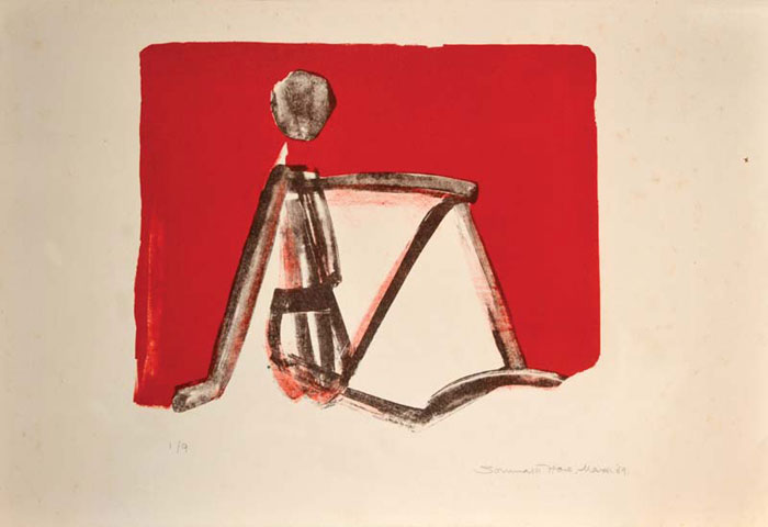 <em><strong>Untitled</strong></em>. Lithograph, 38 x 30.5 cm, 1969