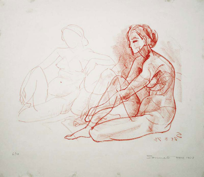 <em><strong>Untitled</strong></em>. Lithograph, 44.1 x 38.1 cm, 1972