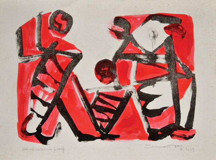 <em><strong>Untitled</strong></em>. Lithograph, hand coloured, 10 x 14.5 inches, 1969