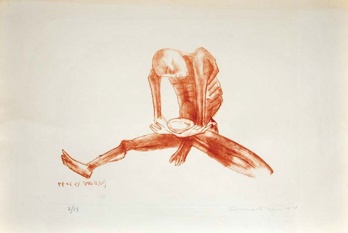 <em><strong>Hunger</strong></em>. Lithograph, 11.8 x 16.2 inches, 1978