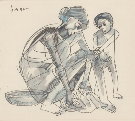 <em><strong>Untitled</strong></em>. Colour, pen and ink on paper, 9 x 10 inches, 1969