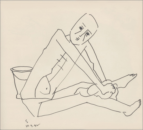 <em><strong>Untitled</strong></em>. Pen and ink on paper, 9 x 10 inches,1992