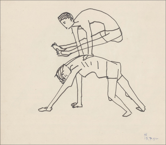<em><strong>Untitled</strong></em>. Pen and ink on paper, 9 x 10 inches, 1992