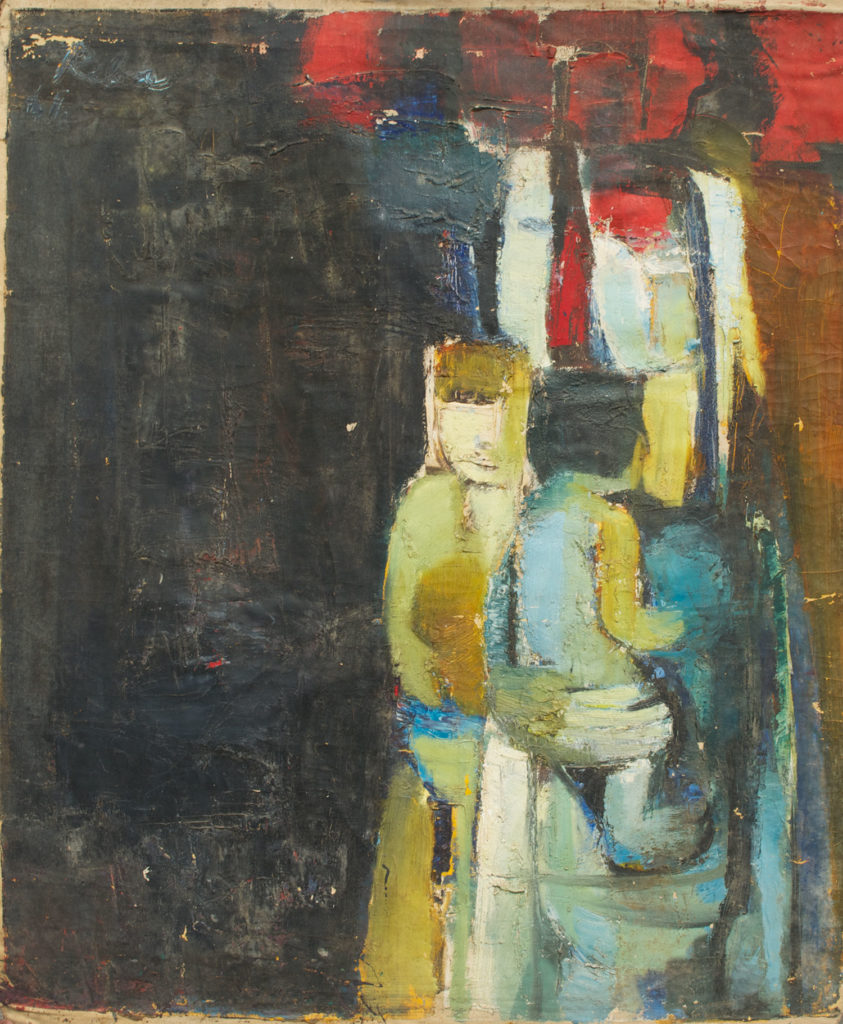 <em><strong>Women with Children</strong></em>. Oil on canvas, 27 x 32 inches