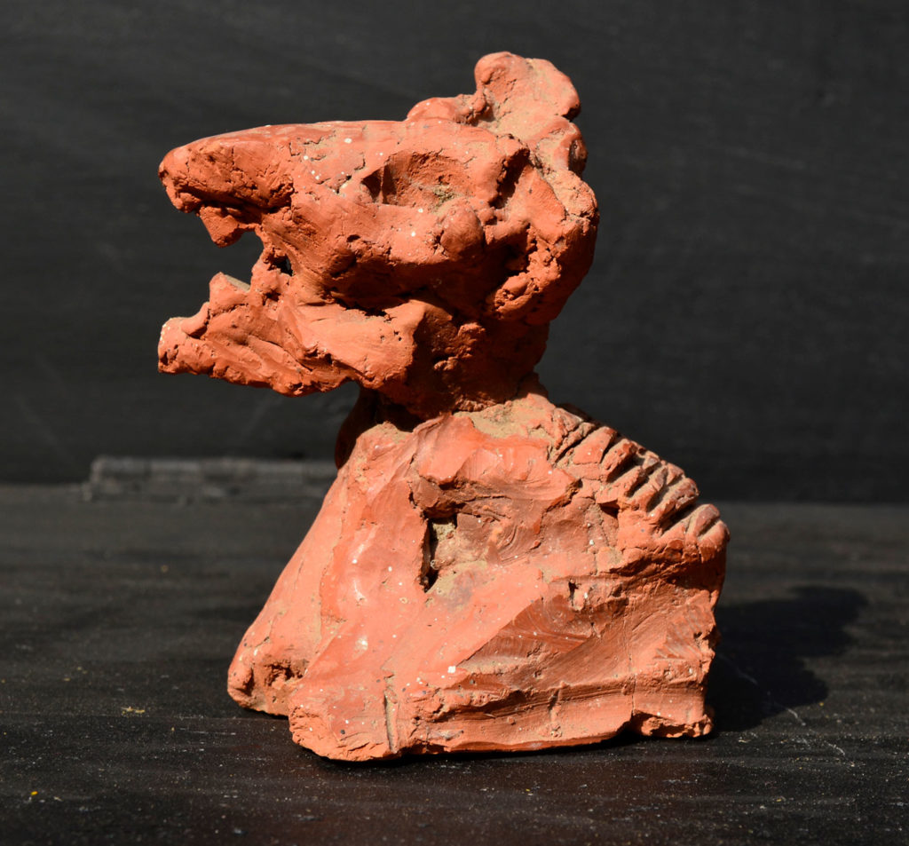 <em><strong>Animal</strong></em>. Terracotta, 2.5 x 2 x 4 inches