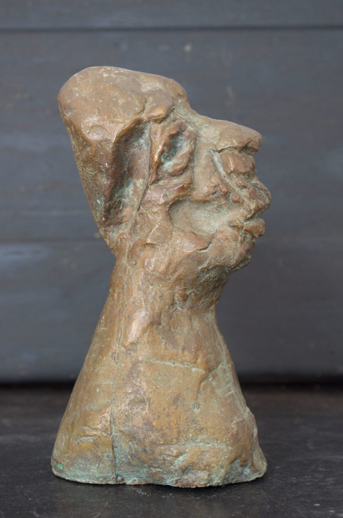 <em><strong>Bust</strong></em>. Bronze, 3.5 x 2.5 x 6.5 inches