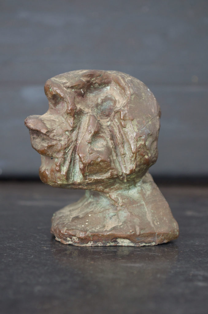 <em><strong>Head 2</strong></em>. Bronze, 2.5 x 2.5 x 3.5 inches