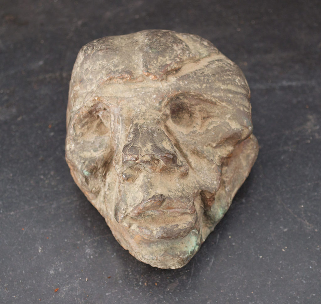 <em><strong>Head 3</strong></em>. Bronze, 3.5 x 4 x 3 inches