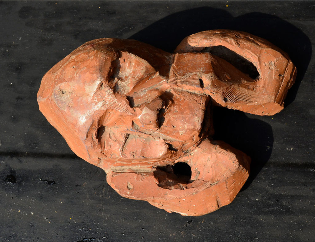 <em><strong>Head 3</strong></em>. Terracotta, 6.5 x 5 x 3 inches