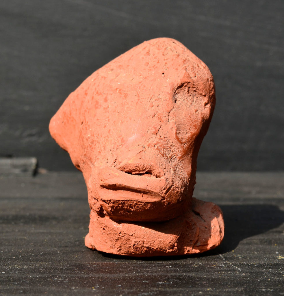 <em><strong>Head 4</strong></em>. Terracotta, 3 x 2.5 x 3 inches