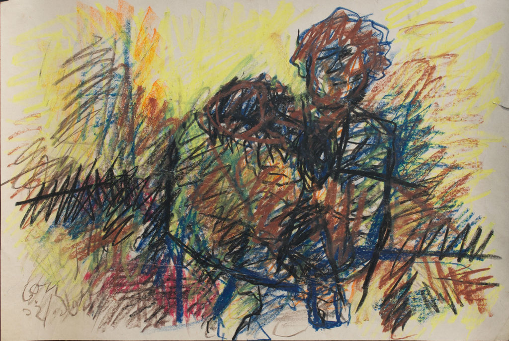 <em><strong>The Kid</strong></em>. Watercolour and pastel on paper, 21.5 x 14 inches