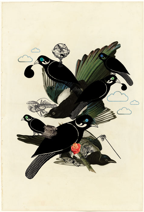 <em><strong>Thieving Magpie</strong></em>. Digital print on archival paper, 11.85 x 14.5 inches Edition of 7, 2010