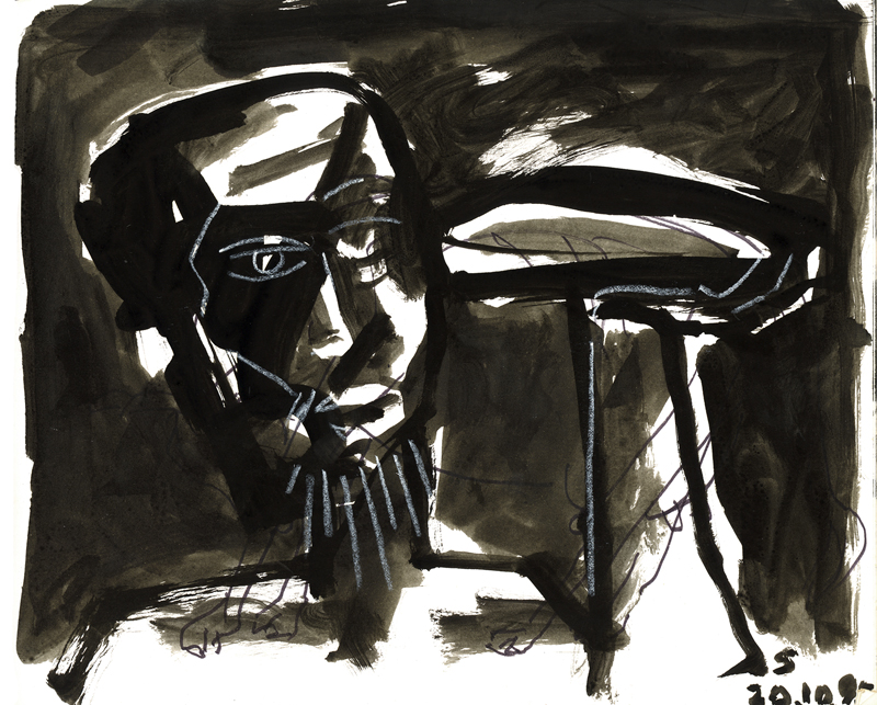 <em><strong>Untitled</strong></em>. Ink on paper, 8 x 10.5 inches, 1995