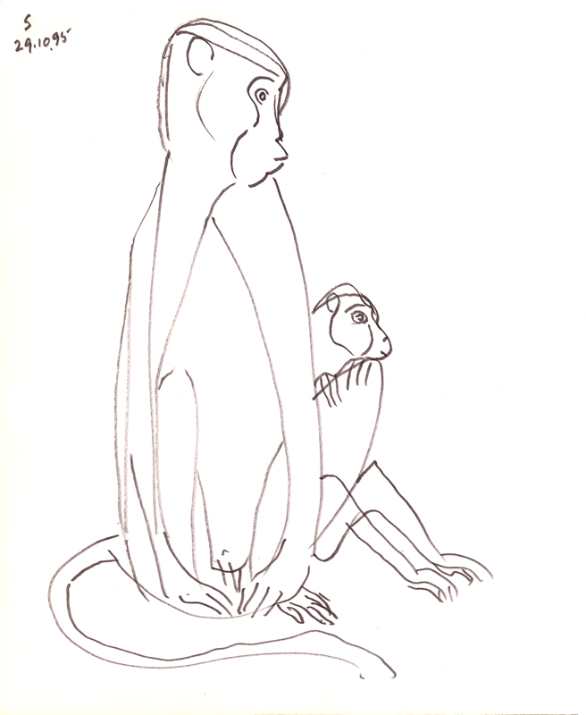 <em><strong>Untitled</strong></em>. Pen on paper, 8.5 x 10.24 inches, 1995