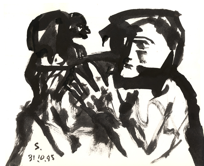 <em><strong>Untitled</strong></em>. Ink on paper, 8.5 x10 inches, 1995