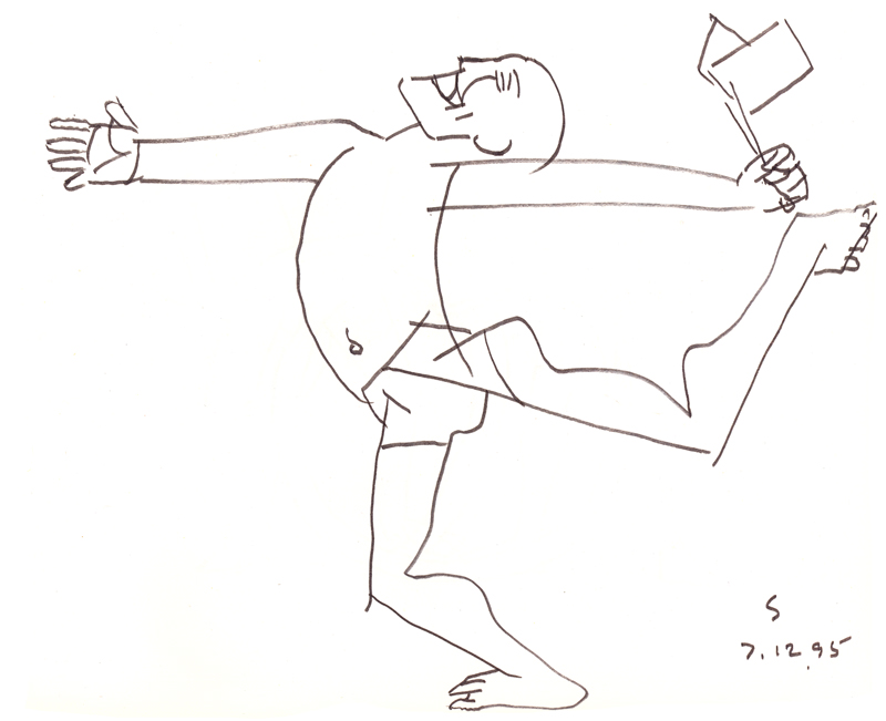 <em><strong>Untitled</strong></em>. Pen on paper, 8.5 x 10 inches, 1995