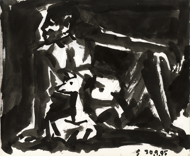 <em><strong>Untitled</strong></em>. Ink on paper, 8.5 x 10 inches, 1995