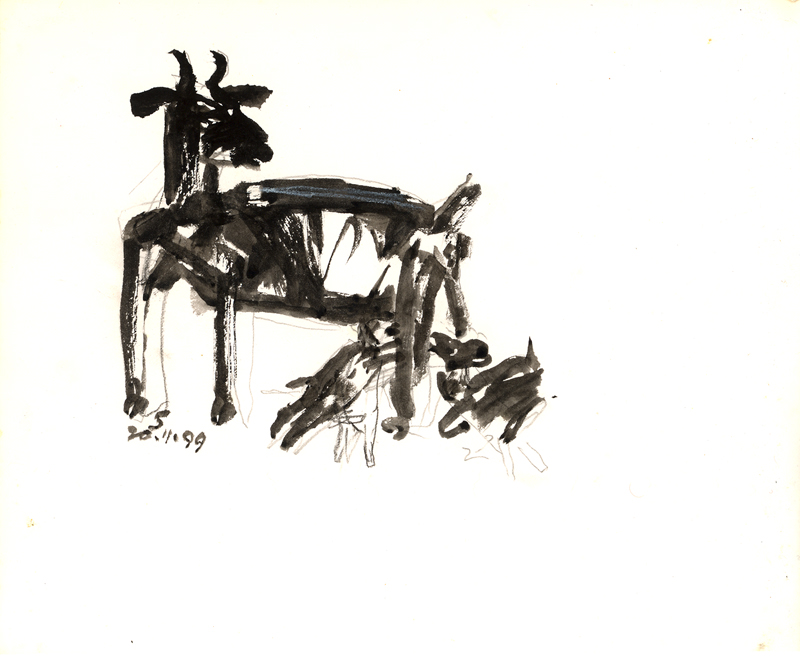 <em><strong>Untitled</strong></em>. Pen on paper, 8.5 x 10 inches, 1999