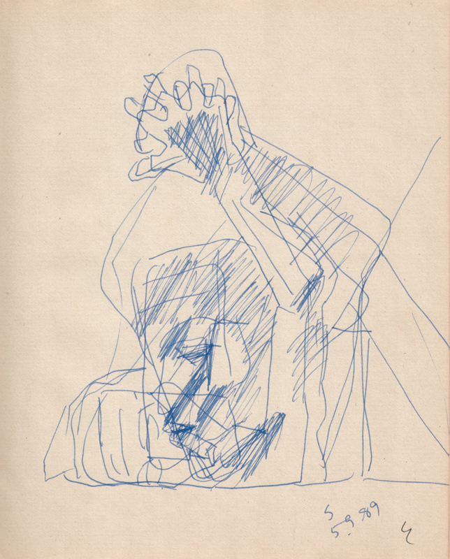 <em><strong>Untitled</strong></em>. Pen on paper, 6.5 x 8 inches, 1995