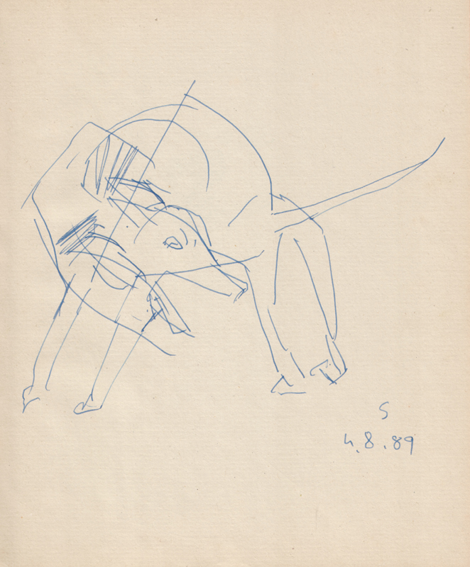 <em><strong>Untitled</strong></em>. Pen on paper, 6.5 x 8 inches, 1989