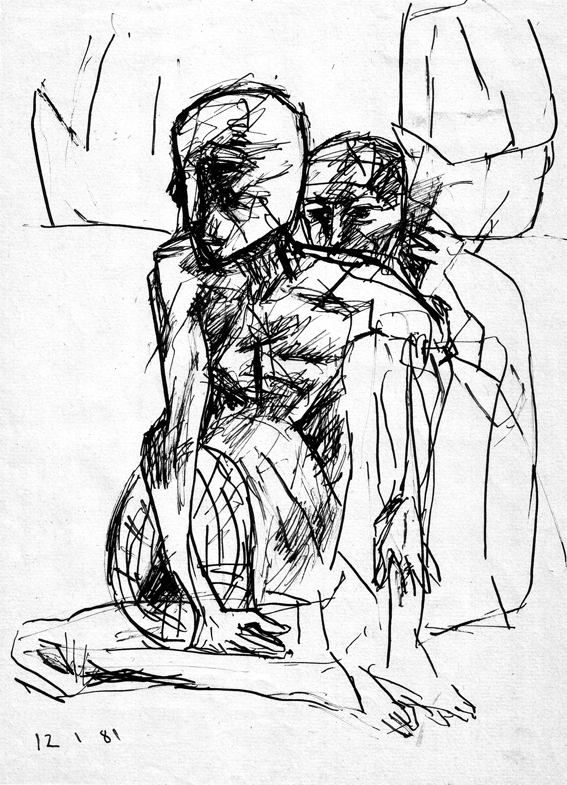 <em><strong>Untitled</strong></em>. Pen on paper, 7 x 10 inches, 1981