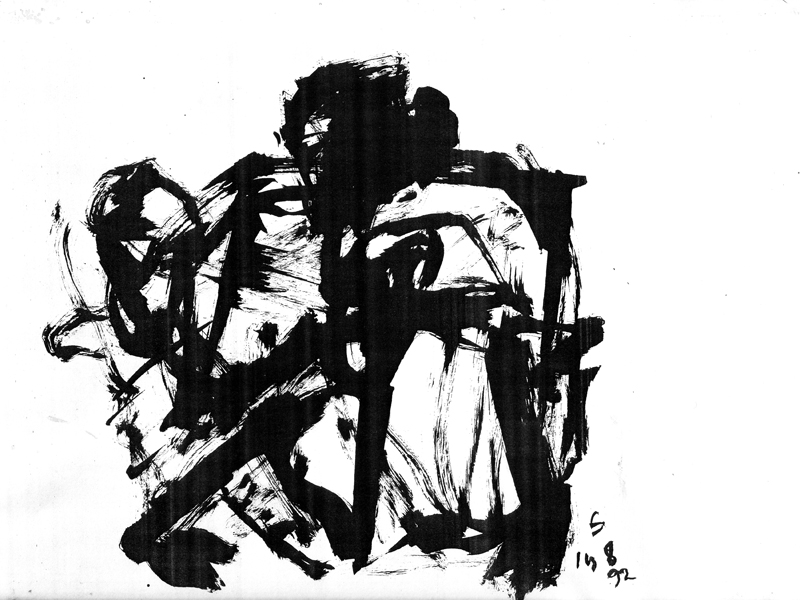 <em><strong>Untitled</strong></em>. Ink on paper, 9.5 x 10 inches, 1992