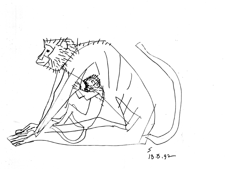 <em><strong>Untitled</strong></em>. Pen on paper, 9.5 x 10 inches, 1992