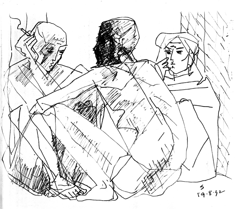 <em><strong>Untitled</strong></em>. Pen on paper, 9.5 x 10 inches, 1981