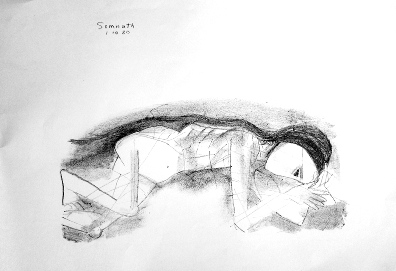 <em><strong>Untitled</strong></em>. Charcoal on paper, 21 x 14.5 inches, 1980