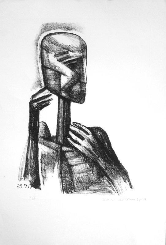 <em><strong>Untitled</strong></em>. Charcoal on paper, 21 x 14.5 inches, 1977