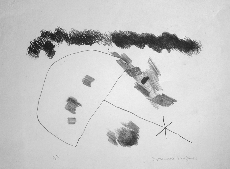 <em><strong>Untitled</strong></em>. Pencil on paper, 19 x 14.5 inches, 1968