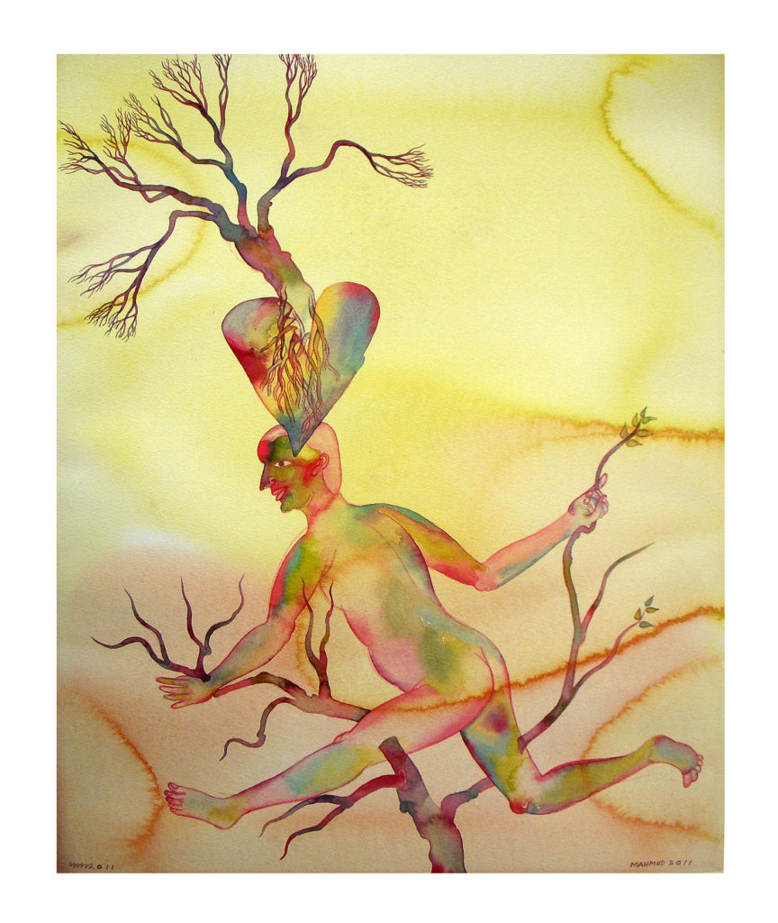 <em><strong>Wanderer 2</strong></em>. Watercolour on paper, 15 x 19 inches, 2011