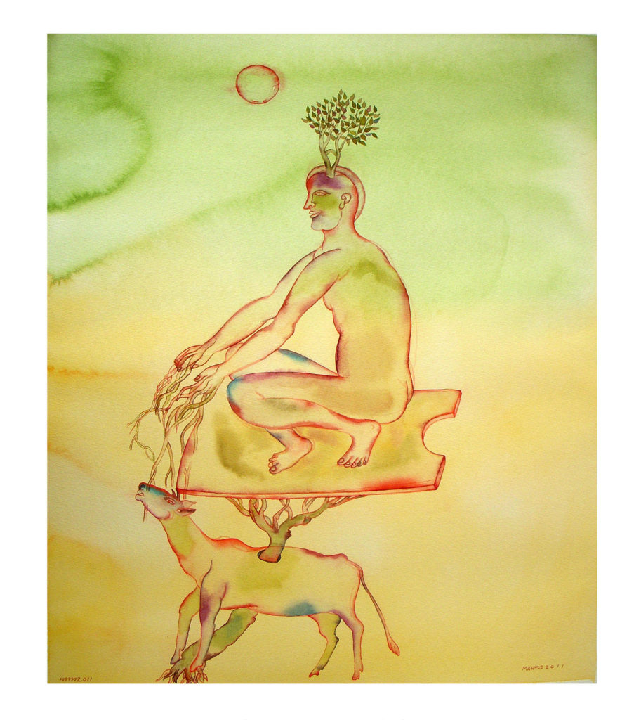 <em><strong>Wanderer 4</strong></em>. Watercolour on paper, 15 x 19 inches, 2011
