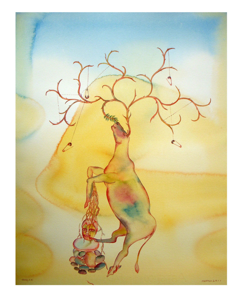 <em><strong>Wanderer 8</strong></em>. Watercolour on paper, 15 x 19 inches, 2011